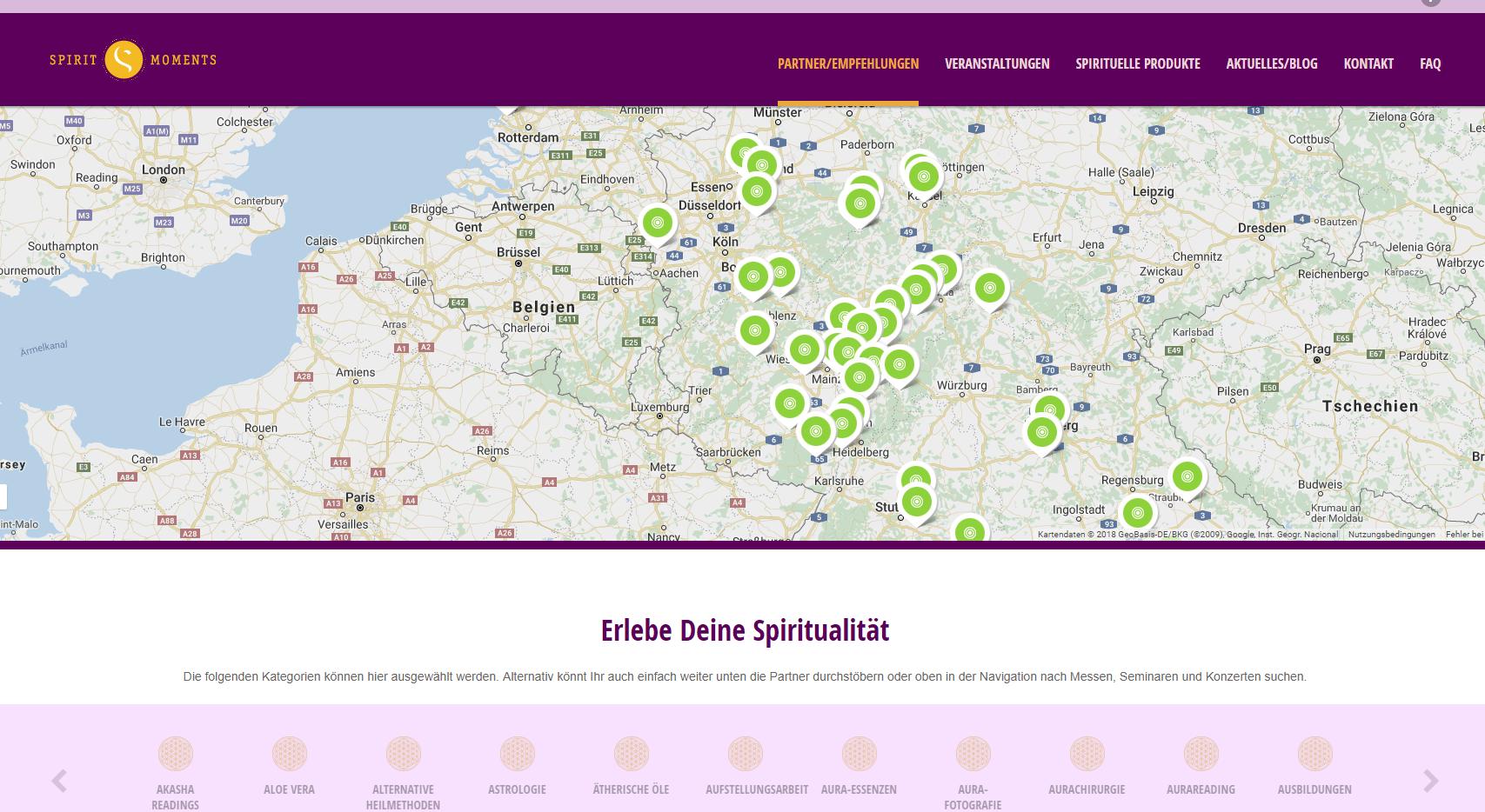 Unser eigenes Portal www.spirit-moments.de