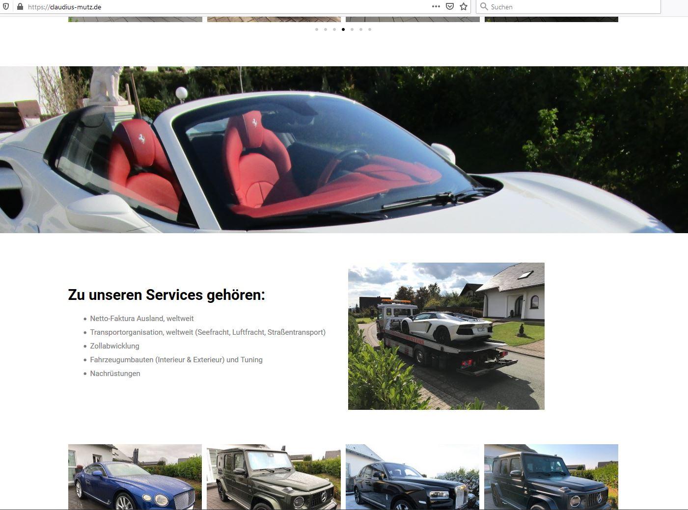 Claudius Mutz – Mutzmobile.de mit neuer Webseite
